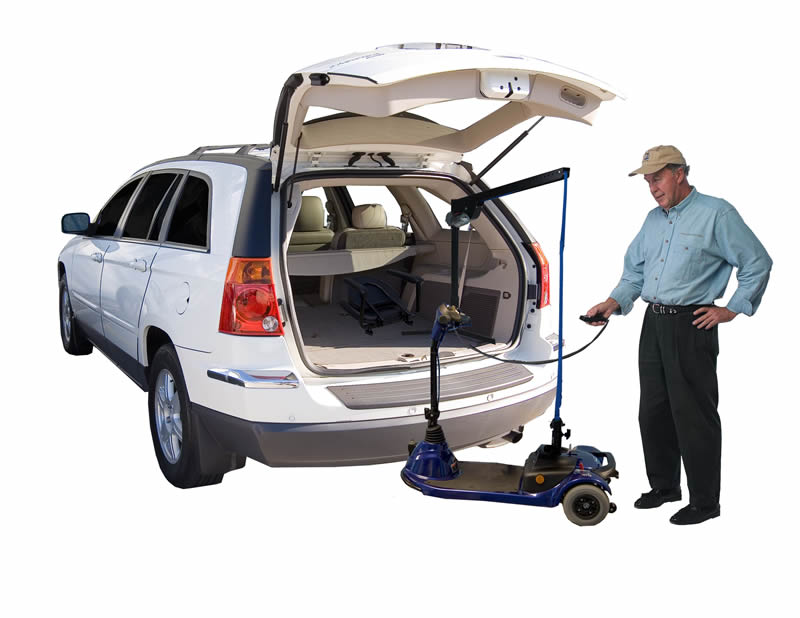 Wheelchair Lift Inside Car Trunk