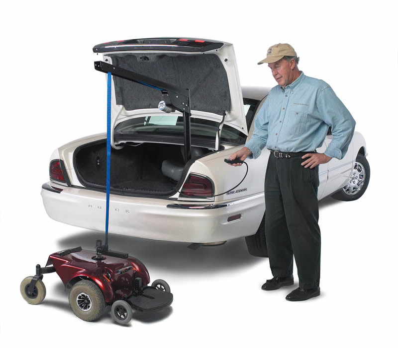 How to Lift a Wheelchair into the Trunk of a Vehicle | Roll