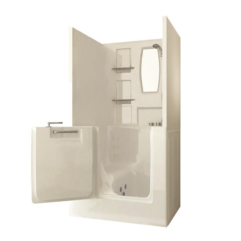 Sanctuary Small Shower Enclosure Walk-In Tub | Walk-In Tubs